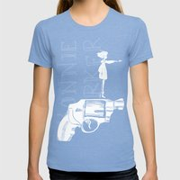 Bonnie Parker Womens Fitted Tee Tri-Blue SMALL
