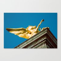 Gold Pegasus Canvas Print