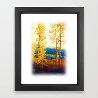 Faded Aspens Framed Art Print