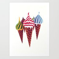 Art Print featuring Summer In Moscow by Yetiland