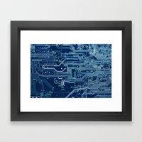 Electronic circuit board Framed Art Print