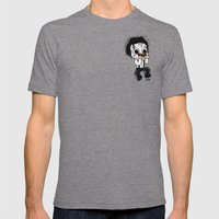 Normalhands Mens Fitted Tee Tri-Grey SMALL