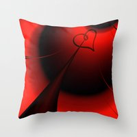 Straight To Your Heart Throw Pillow