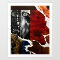 Music Triptych: Saxophon… Art Print