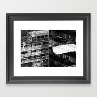 Building And Reflecting Framed Art Print