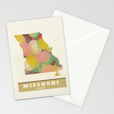 Missouri state map modern Stationery Cards