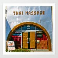 Thai Massage Art Print