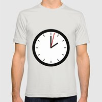 #33 Clock Mens Fitted Tee Silver SMALL