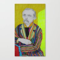 Canvas Print featuring portrait of J. M. Barrie by Anya Smolnikova