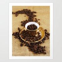 Coffee Cups Art Print