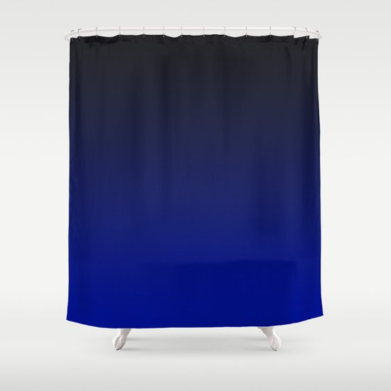 Cobalt Blue Ombre Shower Curtain By Tamsin Lucie Society6