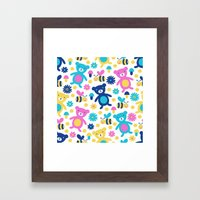 Bee And Bear Children's … Framed Art Print