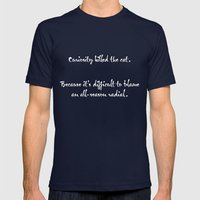 Proverbs: Curiosity Mens Fitted Tee Navy SMALL