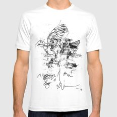 LOWER 4 Mens Fitted Tee White SMALL