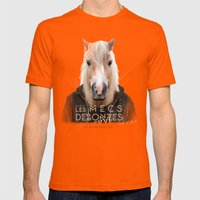 Cheval Mens Fitted Tee Orange SMALL