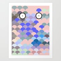 Fish Eyes Art Print