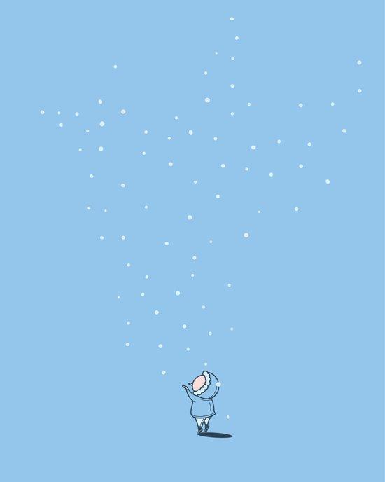 The snow descending Art Print