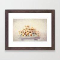 daisies on a stool Framed Art Print