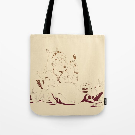 Alice stuck in the wonderland ! Tote Bag