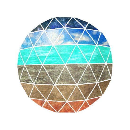 Elemental Geodesic  Canvas Print