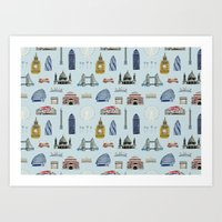 All Of London's Landmark… Art Print