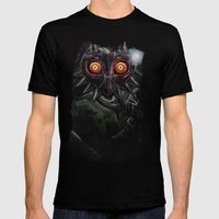 Legend Of Zelda Majora's… Mens Fitted Tee Black SMALL