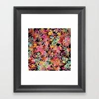 Watercolor Meadow Black Framed Art Print