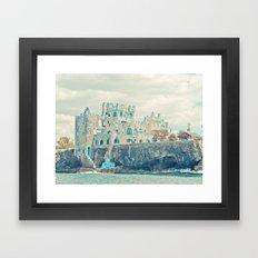 blue coral castle Framed Art Print