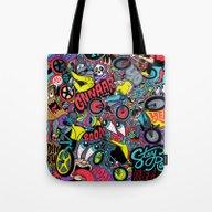 Tote Bag featuring BMXXXXX by Chris Piascik