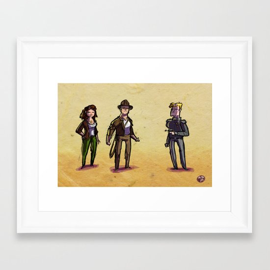 Use Verb on Noun #26: Indiana Jones and The Fate of Atlantis Framed Art Print