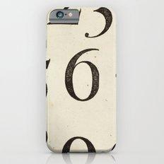 Vintage Numbers iPhone 6 Slim Case