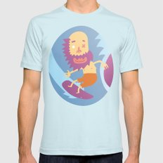 Surf! Mens Fitted Tee Light Blue SMALL