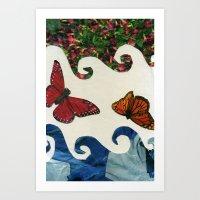 Flying In Circles Art Print