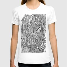 Garden of fine lines Womens Fitted Tee White SMALL