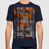 Age & Decay Mens Fitted Tee Navy SMALL