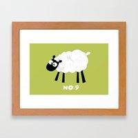 Sheep Number 9.... Framed Art Print