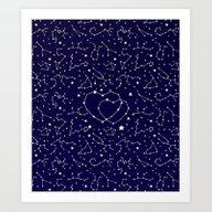 Star Lovers Art Print