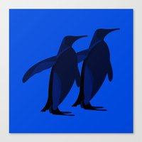 Penguins mate for life Canvas Print