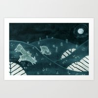 Midnight Run Art Print