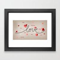 Love, Butterfly Hearts &… Framed Art Print