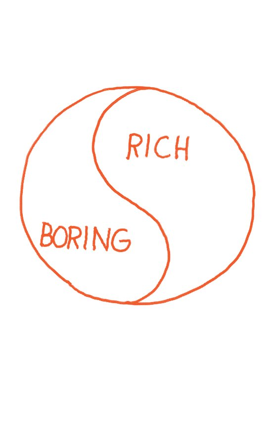Rich / Boring Art Print