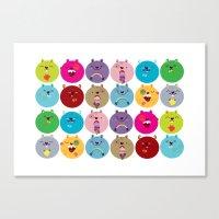 Cute bunnyballs Canvas Print