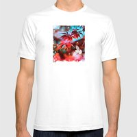 Japanese Red Maple Mens Fitted Tee White SMALL