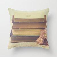 Vintage Book Love Throw Pillow