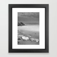 White rock Framed Art Print