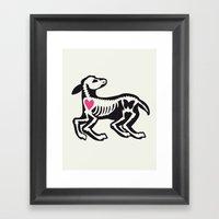 Lamb - Animal Series Framed Art Print