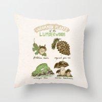 Uncommon Plants Of The Lumberwood Throw Pillow