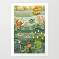 The Octonauts Explore the East Art Print