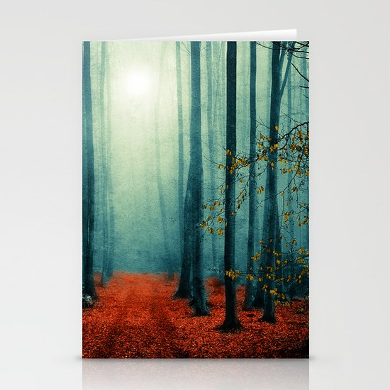 Landscape (colour option) Stationery Card