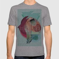 Hiding Tonight Mens Fitted Tee Athletic Grey SMALL